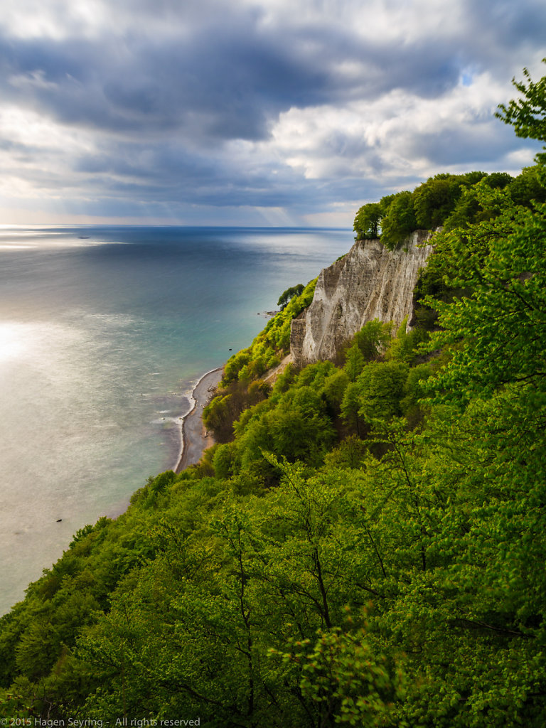"""View from cliff coast """"Königsstuhl"""" to the Baltic Sea in the National Park """"Jasmund"""""""