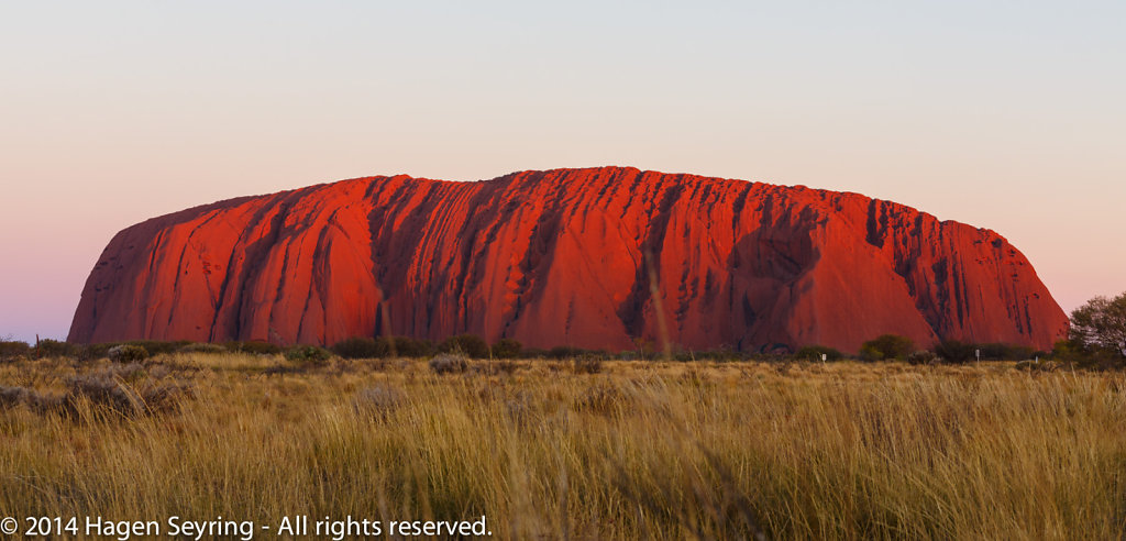 Sunset on the Uluru