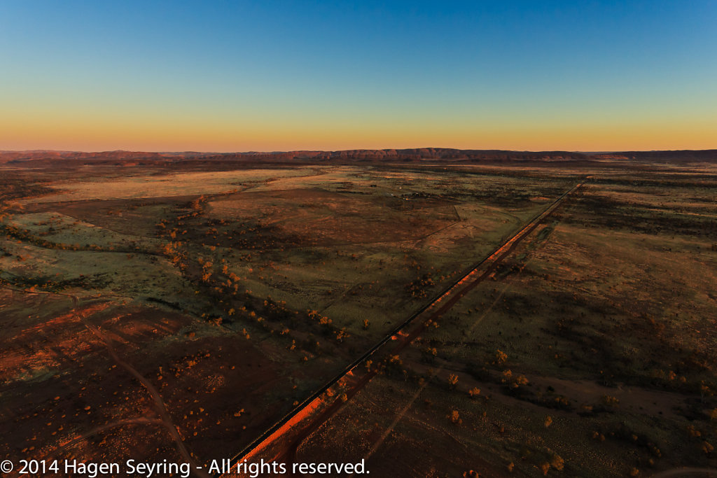 The outback close to Sydney viewed from the balloon