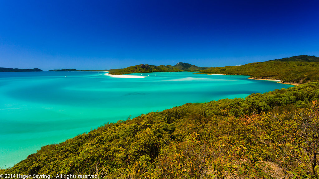 Whitehaven Beach in the Whitsunday Islands, QLD