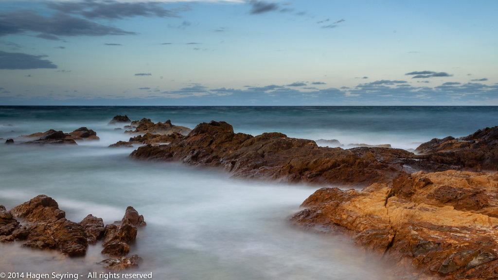 Rocks on the most eastern point of Australia