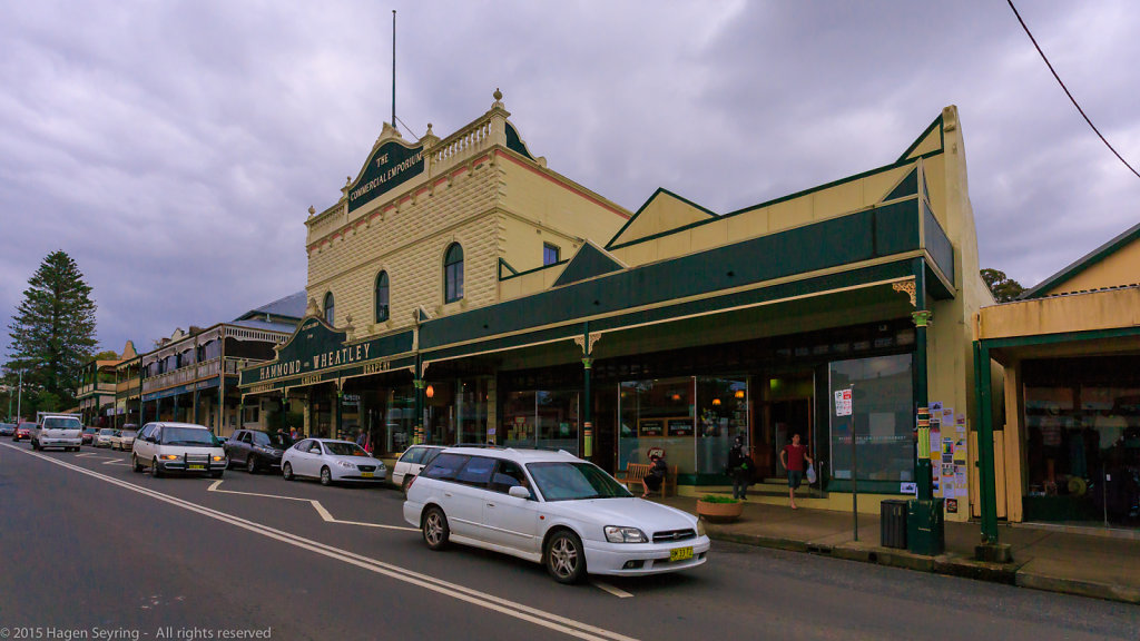 Main street in Bellingen