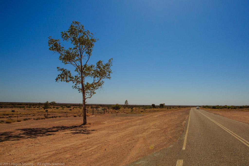 On the road to Uluru