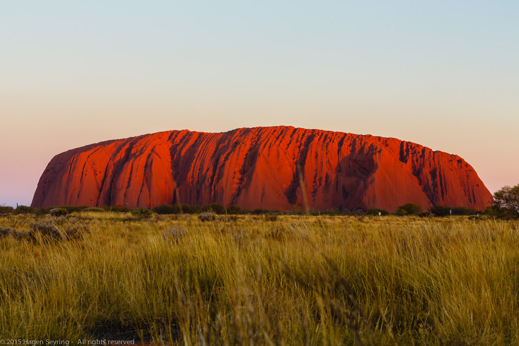 Sunset on the Uluru