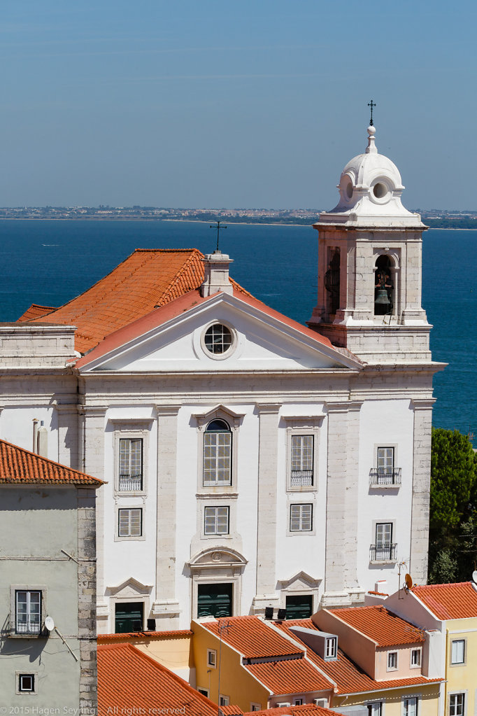 Church in the historic district Alfama