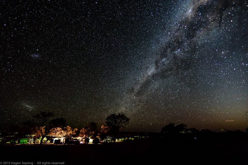 A stary night over Kings Greek Station, NT, Australia
