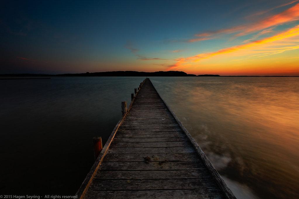 Jasmunder Bodden nach Sonnenuntergang, Lietzow