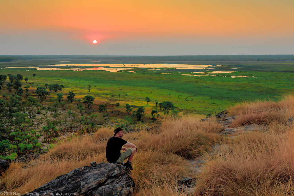 Sunset at the Ubirr rocks, Kakadu National Park, NT