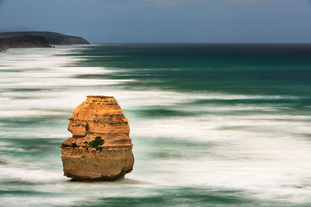 Rock needle on the southern coast of Australia